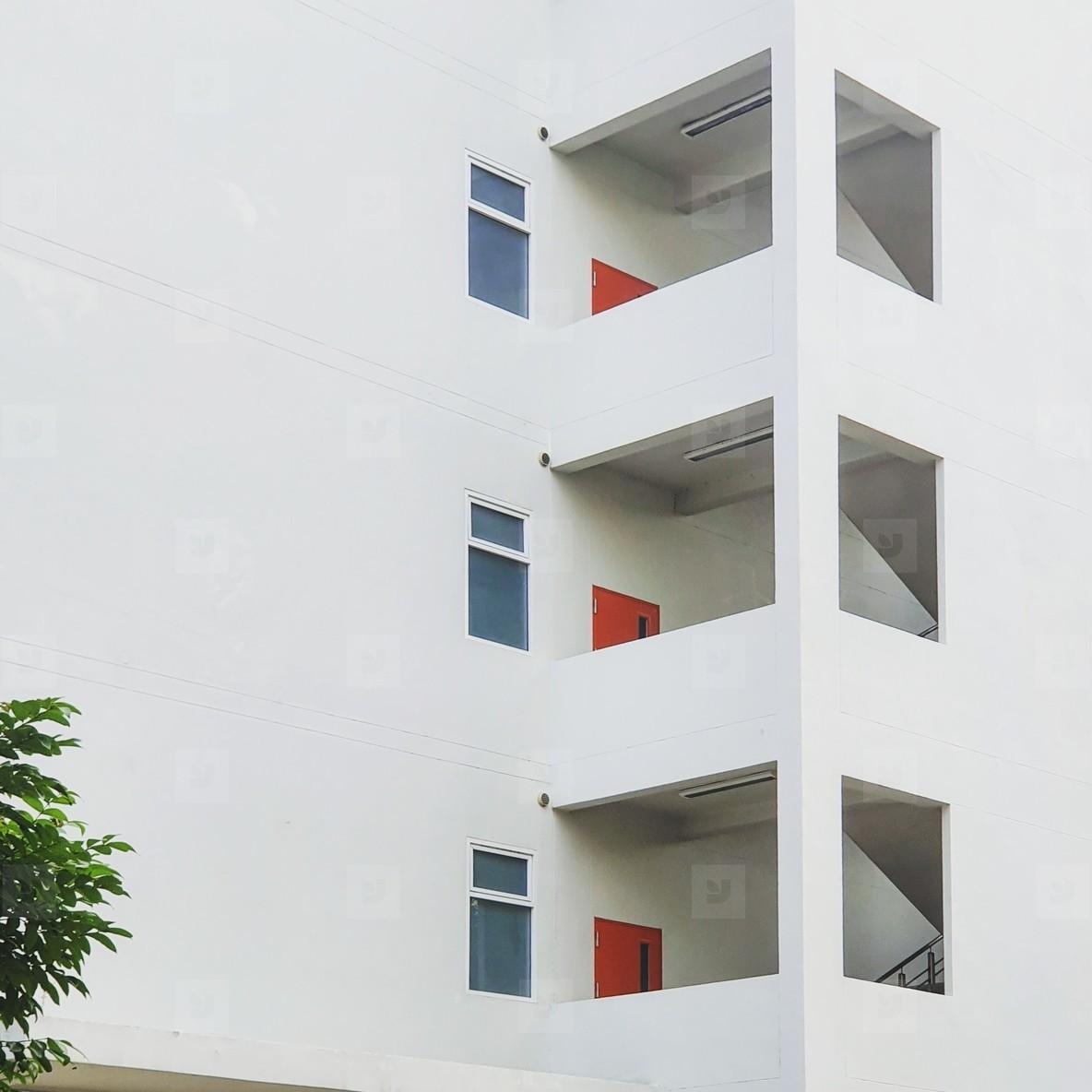 Facade of a white building