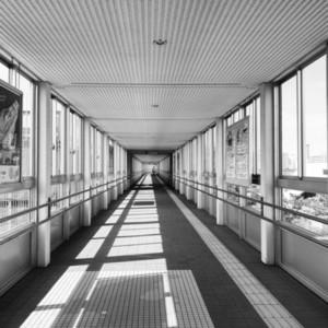 Path way bridge to sky train