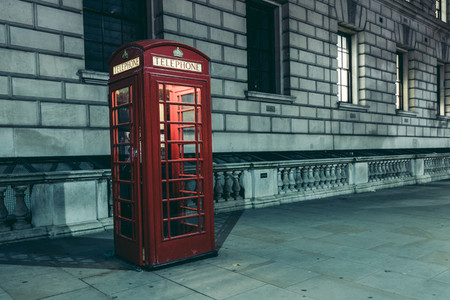 Red telephone box London