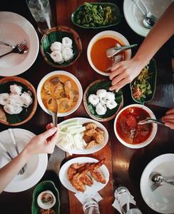 Top view of Thai food