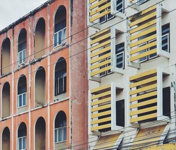 Facade and balconies