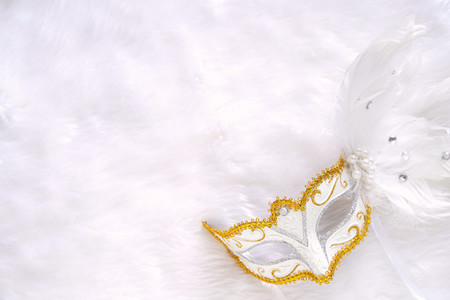 white fancy mask for party