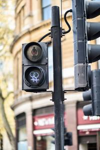 LGBT pedestrian traffic light signals symbolizing equality diversity and tolerance