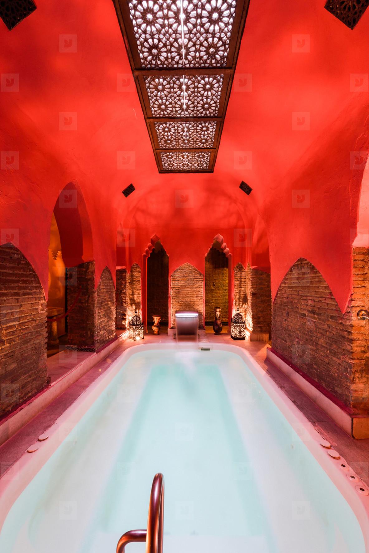 Arabic baths Hammam in Granada  Andalusia  Spain