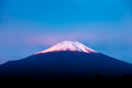 close up mount fuji in the morning