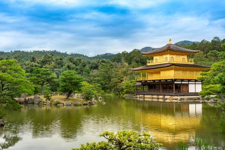 KYOTO JAPAN   OCTOBER 13  2018 Kingaguji Temple  Golden Temple