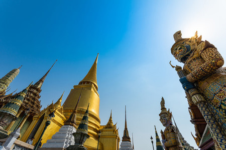 BANGKOK THAILAND Feb 5 Wat pra kaew  Grand palace on the blue s