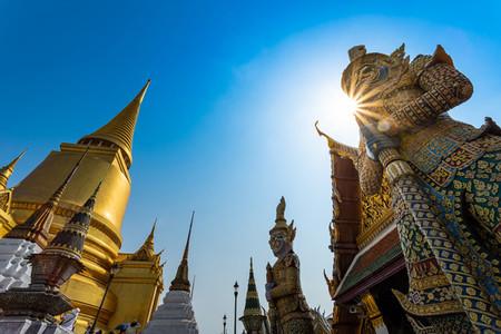 BANGKOKTHAILAND Feb 5 Wat pra kaew Grand palace on the blue s