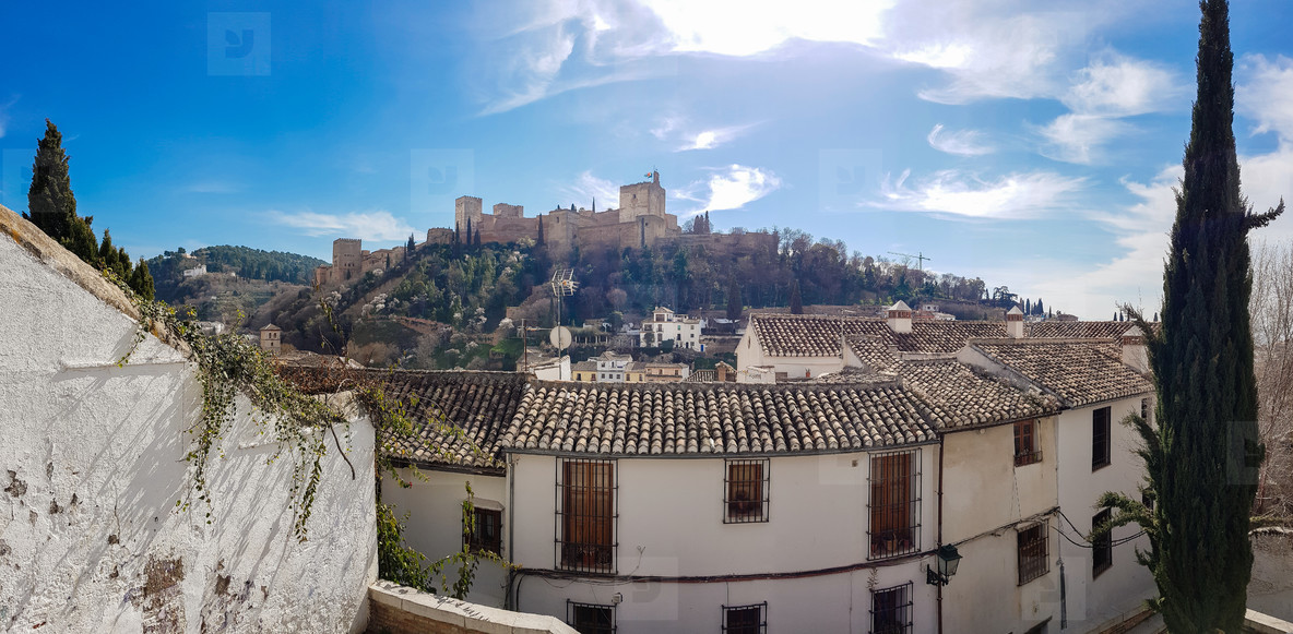 View of the Alhambra of Granada from the Albaicin