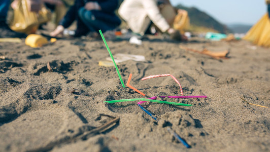 Straws on the beach