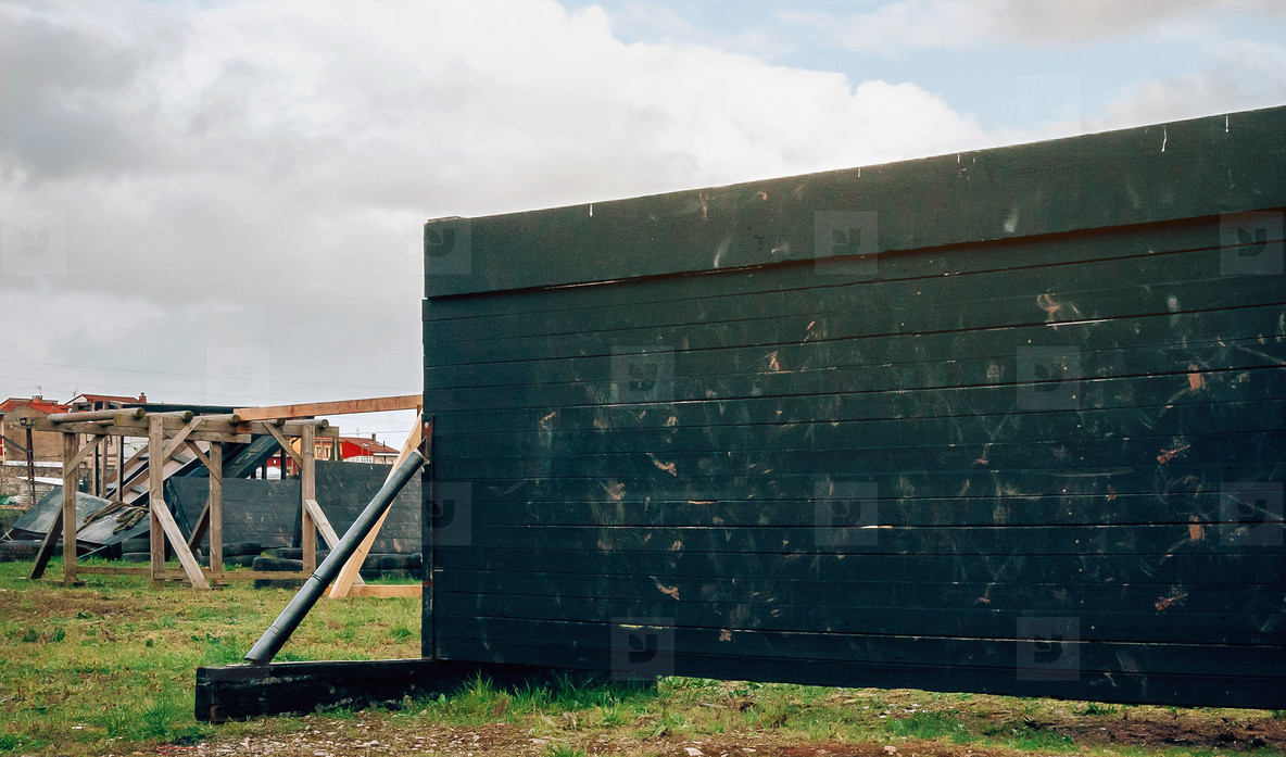 Wooden wall for ocr