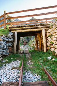 Bridge over abandoned mine train track