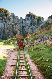 Abandoned mine train track