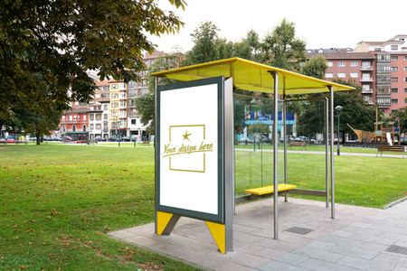 Bus canopy with customizable design
