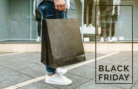Man shopping  Black friday concept