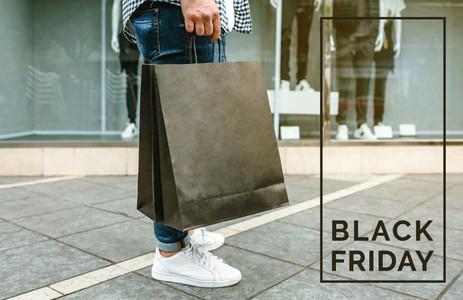 Man shopping Black friday concept