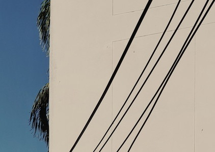 Line shadow of electric wire