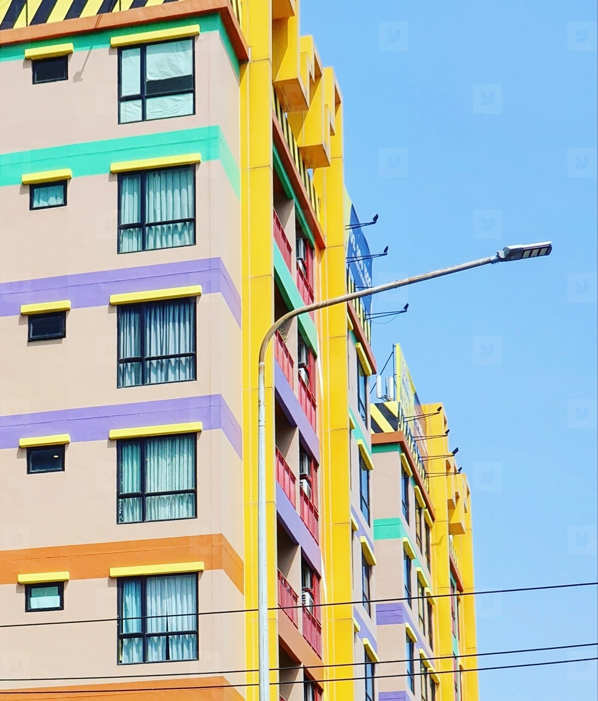 Colorful houses facades