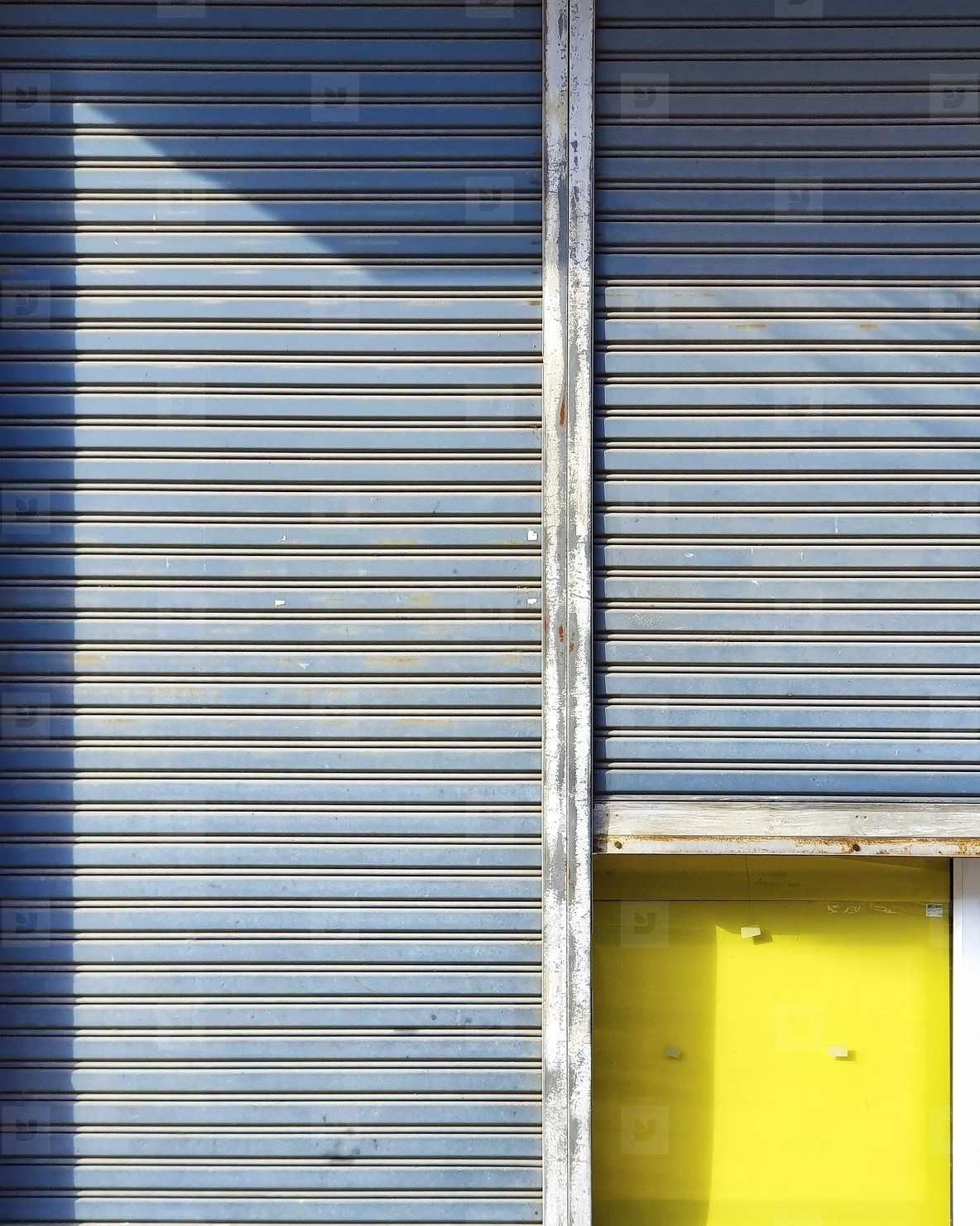 Vintage sheet steel door pattern