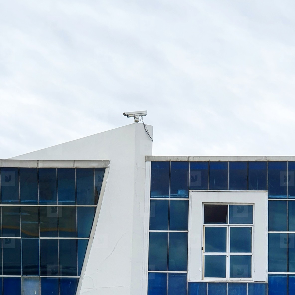CCTV camera on top of building
