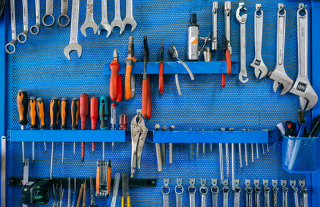 Background with tool board