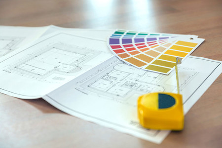 Plan color palette and metre