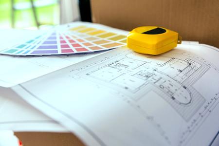 Plan  color palette and metre