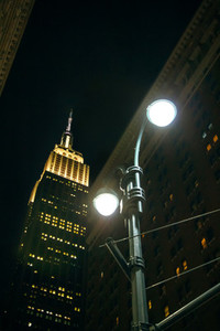 View of Empire State building in Manhattan  New York City  USA