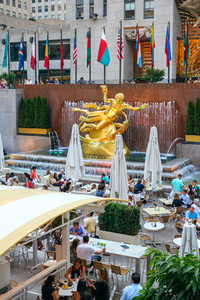 Prometheus Statue on Rockefeller Center in New York City