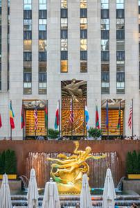 Prometheus Statue on Rockefeller Center in New York City