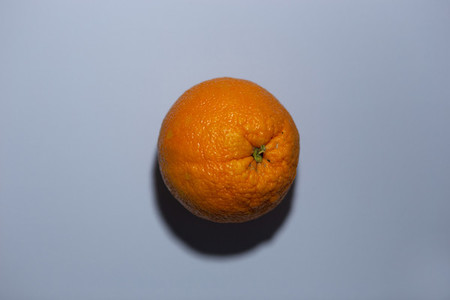 orange on a gray colored backgro