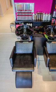 Washing head seat inside of hair and beauty salon
