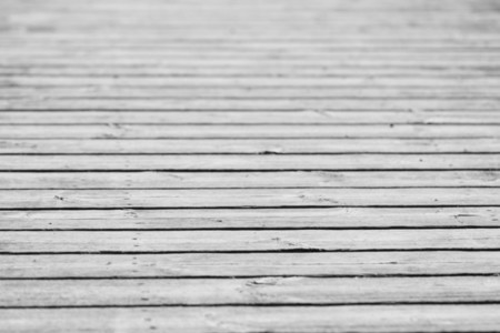 Background of wooden pier boards Black and white photography
