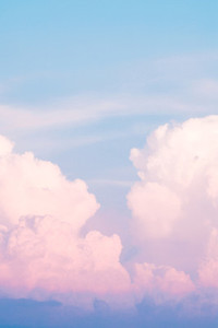 Clouds in the sky before sunset  Neon and blue trend colors