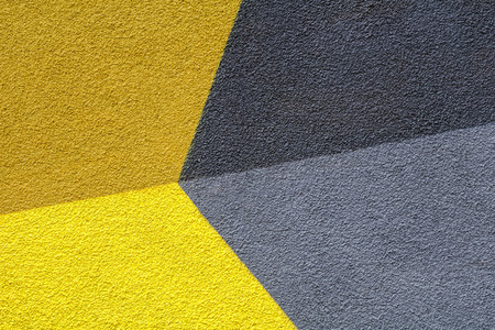 Abstract colorful composition on a wall