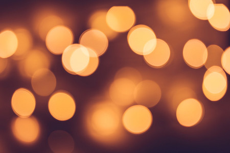 Circle golden bokeh background