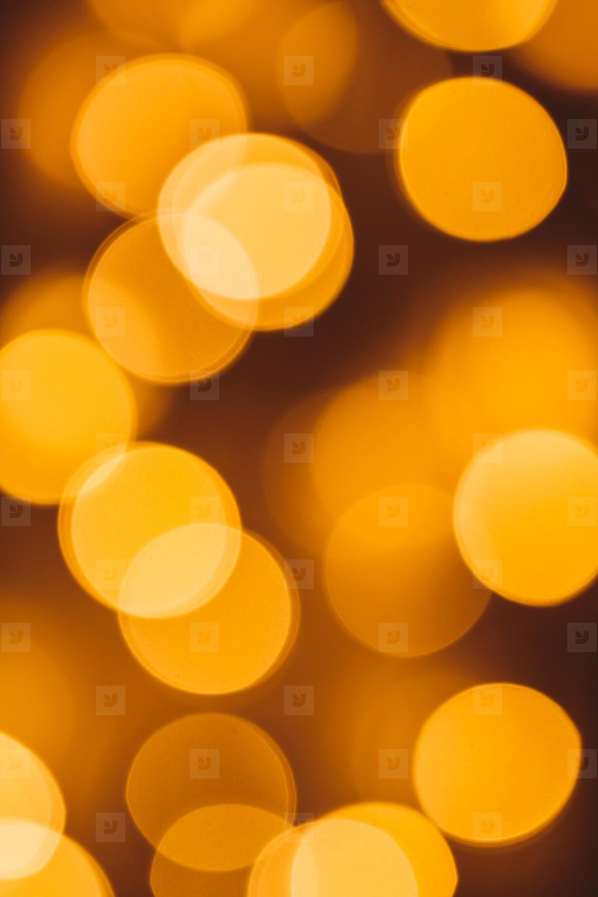Circle golden bokeh background