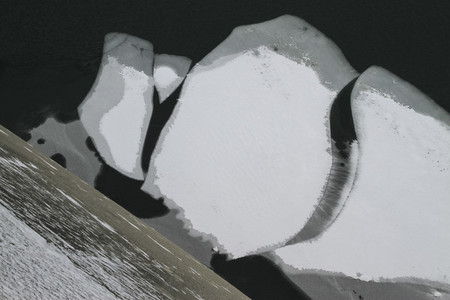 Snowy and ice formation