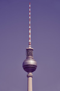 Television tower against sunny  Berlin  Germany