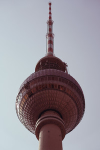 Low angle view of Television Tower  Berlin  Germany