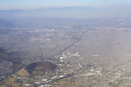 Aerial view Mexico City
