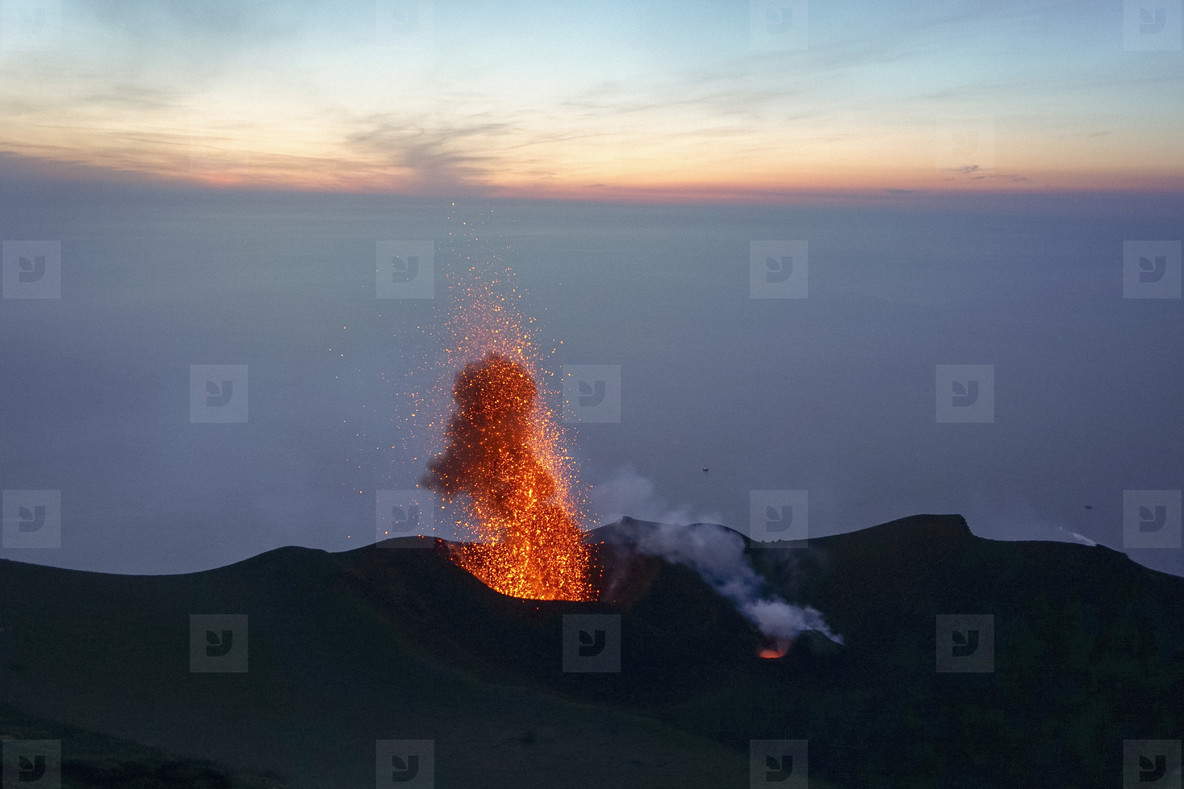 Lava eruption  Italy