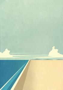 Tranquil ocean beach