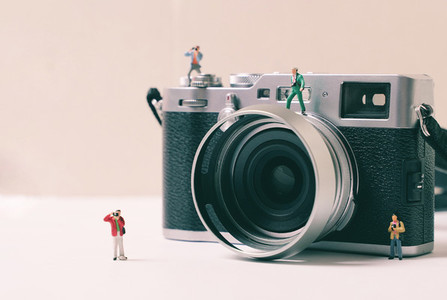 Miniature group of photographer