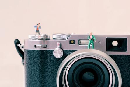 Miniature group of photographers
