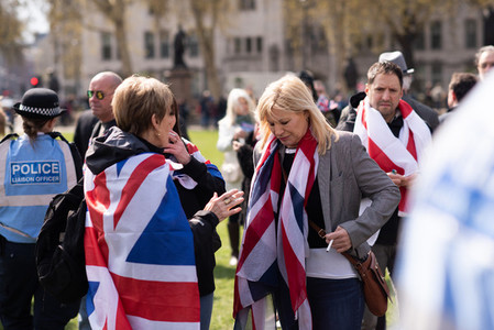 London  England 13th April 2019   Leave Means Leave demonstration in Westminster