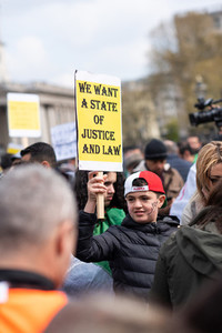 London UK April 15th 2019 Algerian March on Trafalgar square