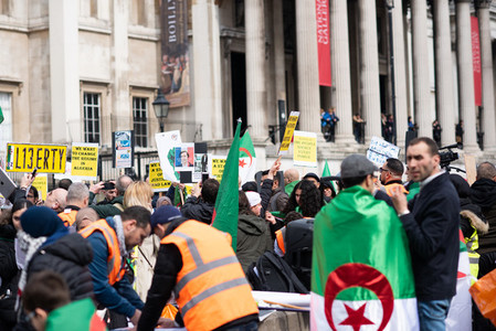 London UK April 15th 2019  Algerian March on Trafalgar square