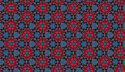 Kaleidoscope background with hearts and sneakers