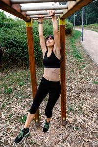 Female athlete doing monkey exercises